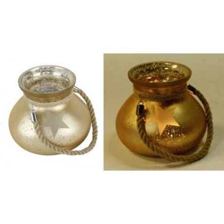 mécsestartó-arany