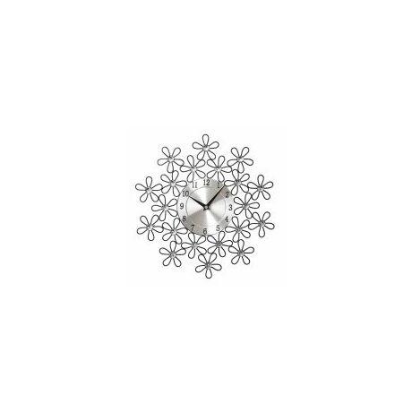 """Falióra """"Virágok"""" kristályokkal fekete 34 cm"""